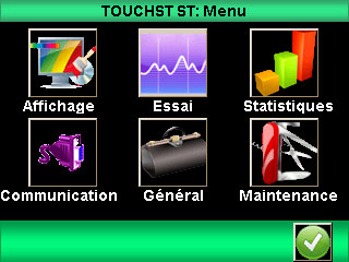 Principales fonctions du Centor Star Touch